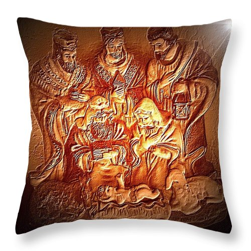 Yeshu'a Throw Pillow featuring the photograph Yeshu'a by Carlos Avila