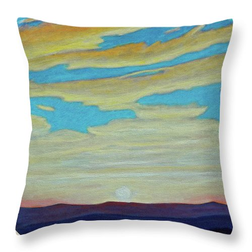 Landscape Throw Pillow featuring the painting Yesterday by Brian Commerford
