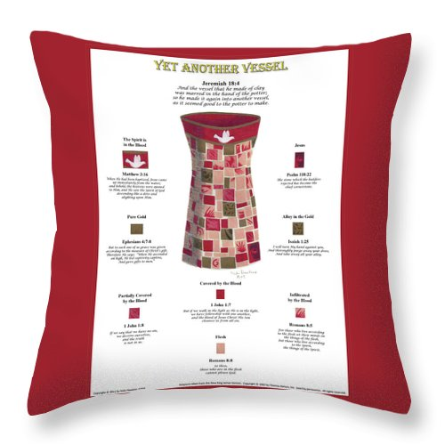 Christian Throw Pillow featuring the drawing Yet Another Vessel by Vicki Hawkins