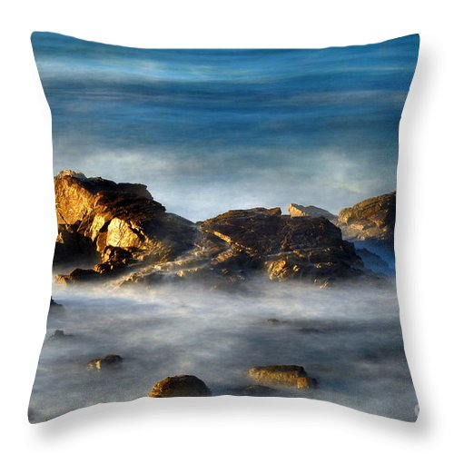 Rocks Throw Pillow featuring the photograph Yin And Yan by Catherine Lau