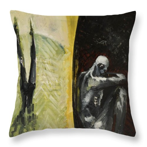 Anatomy Throw Pillow featuring the painting Middle Passage by Craig Newland