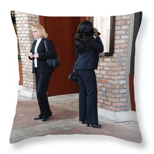 Girls Throw Pillow featuring the photograph Ying Yang by Rob Hans