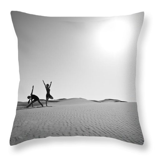 Yoga Throw Pillow featuring the photograph Yoga Landscape by Scott Sawyer