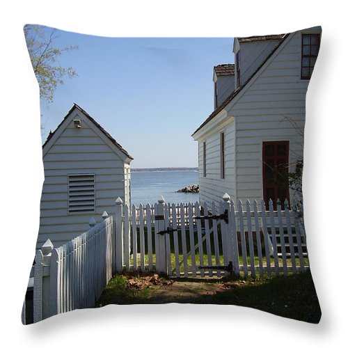 Yorktown Throw Pillow featuring the photograph Yorktown by Flavia Westerwelle