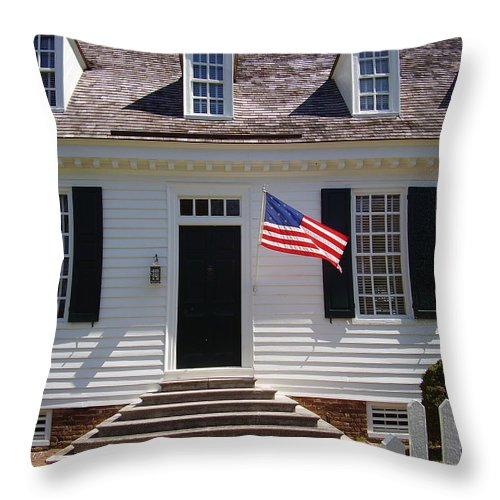 Yorktown Throw Pillow featuring the photograph Yorktown II by Flavia Westerwelle