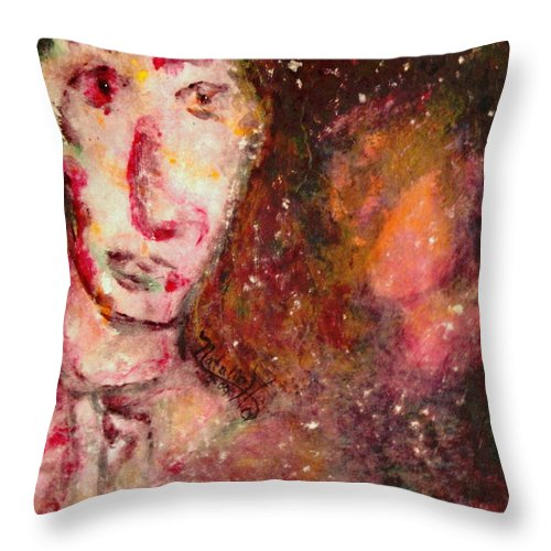 Free Expressionsim Throw Pillow featuring the painting You Are Always On My Mind by Natalie Holland