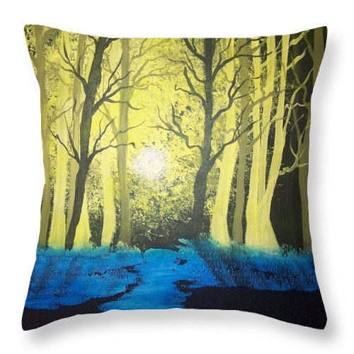 Forest Throw Pillow featuring the painting You Cant See The Forest For The Trees by Laurie Kidd