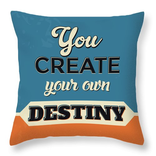 you create your own destiny throw pillow for sale by naxart studio