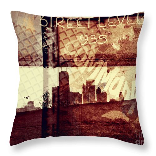Chicago Throw Pillow featuring the photograph You Held My Hand Softly Through The Humid Summer Streets by Dana DiPasquale
