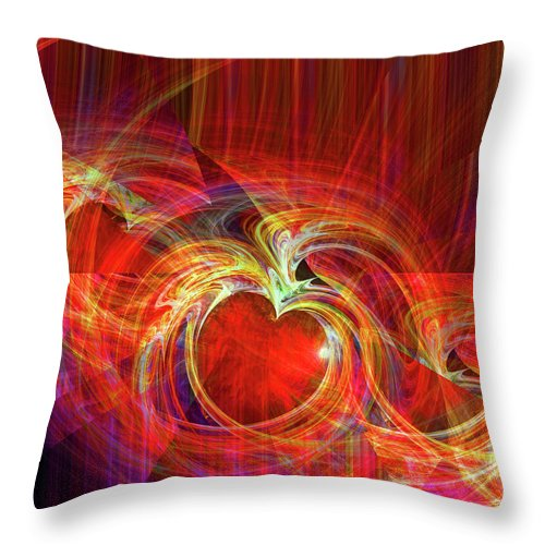 Digital Throw Pillow featuring the digital art You Make Me Feel Whole by Michael Durst