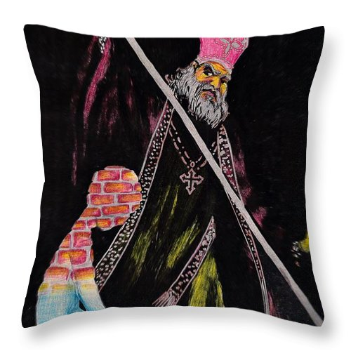 Religion God Salvation Darkness Control Lies Throw Pillow featuring the mixed media You Will Be Saved by Veronica Jackson