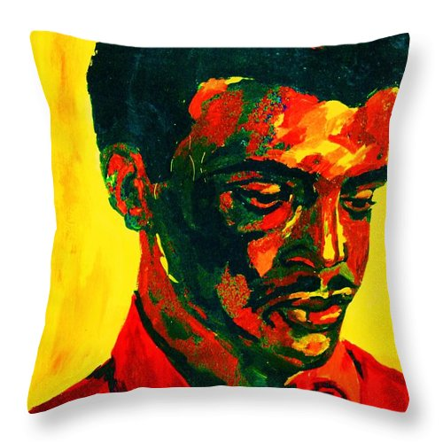 Africa Throw Pillow featuring the painting Young African Man by Carole Spandau