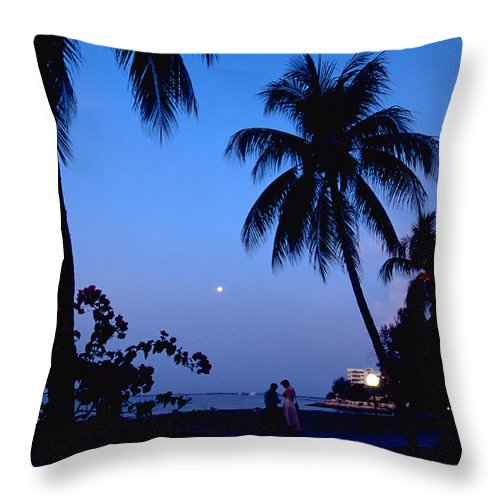 Full Moon Throw Pillow featuring the photograph Young Lovers In Penang by Michael Mogensen
