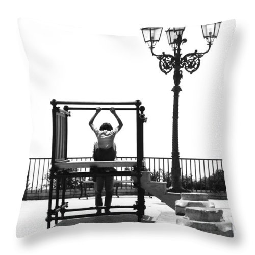 Lovers Throw Pillow featuring the photograph Young Lovers by Robert Lacy