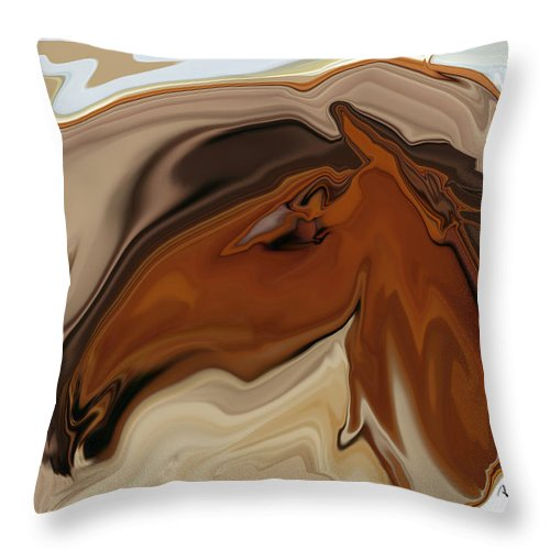 Youngster Throw Pillow featuring the digital art Youngster by Rabi Khan
