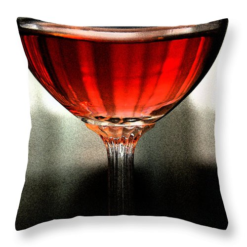 Wine Throw Pillow featuring the photograph Your Taste Still Lingers by Linda Shafer