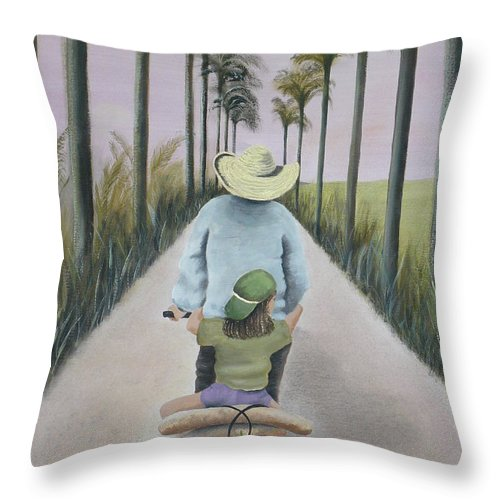 Tropical Throw Pillow featuring the painting You're The Best by Kris Crollard