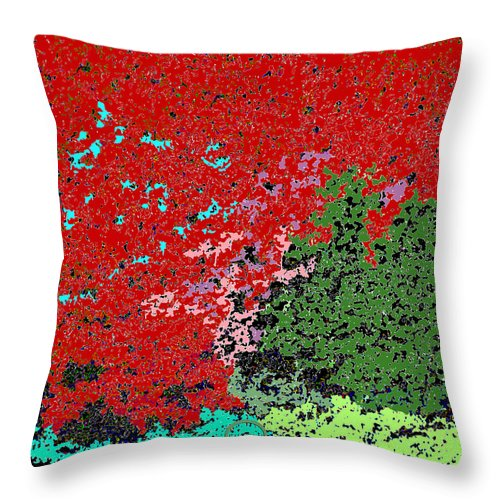 Square Throw Pillow featuring the digital art Yuki by Eikoni Images