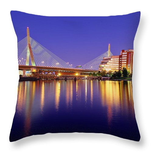Boston Throw Pillow featuring the photograph Zakim Twilight by Rick Berk