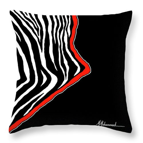Zebra Throw Pillow featuring the painting Zebra East by Marcella Muhammad