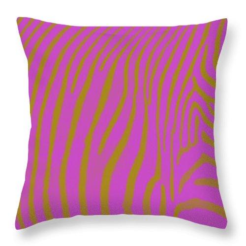 Zebra Throw Pillow featuring the digital art Zebra Shmebra by Michelle Calkins