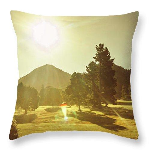 Tasmania Throw Pillow featuring the photograph Zeehan Golf Course by Jorgo Photography - Wall Art Gallery