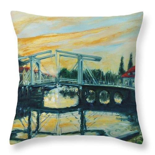 Bridge Throw Pillow featuring the painting Zeeland by Rick Nederlof