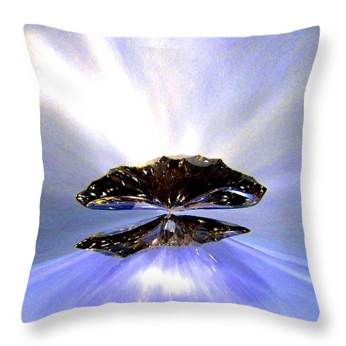 Zenith Of Radiance Throw Pillow featuring the digital art Zenith Of Radiance by Will Borden