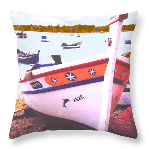 Portugal Throw Pillow featuring the photograph Zeze On The Algarve by Ian MacDonald