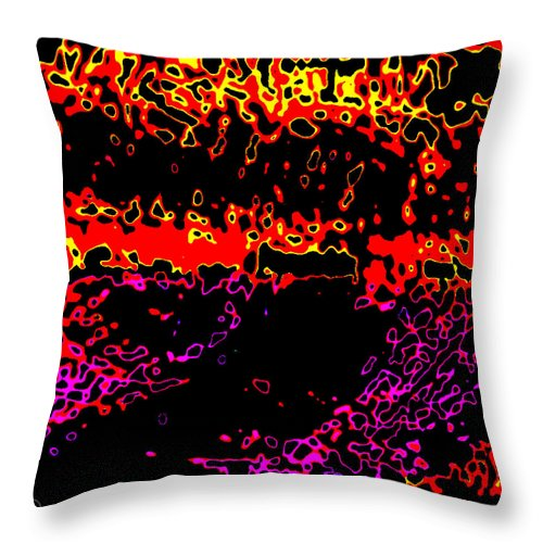 Square Throw Pillow featuring the digital art Zhongguo Xinnian by Eikoni Images