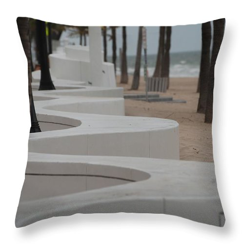 Pop Art Throw Pillow featuring the photograph Zig Zag At The Beach by Rob Hans