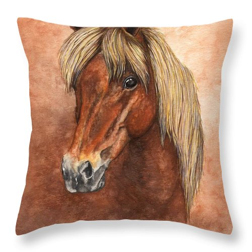 Pony Throw Pillow featuring the painting Ziggy by Kristen Wesch