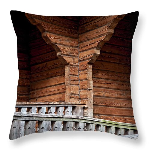 Church Throw Pillow featuring the photograph Zigzag by Murray Bloom