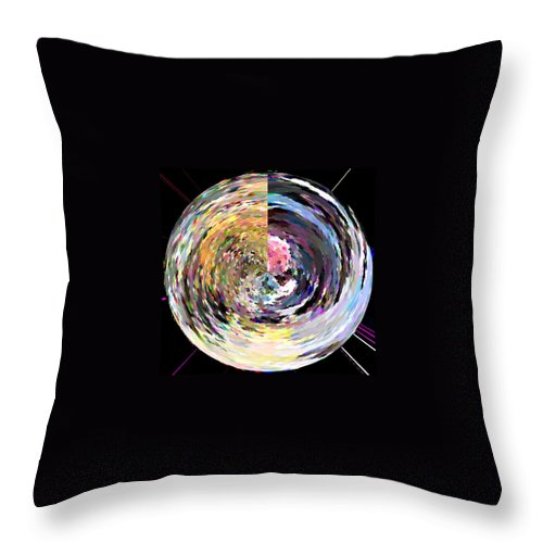 Digital Throw Pillow featuring the painting Zing by Anil Nene