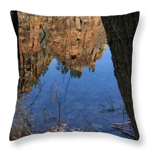 Zion Throw Pillow featuring the photograph Zion Reflections by Nelson Strong