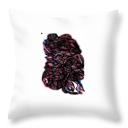 Abstract Art Throw Pillow featuring the mixed media Zone 1 by Beth Aragon