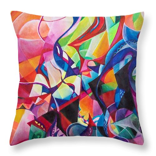 Viktor Tsoy Natali Russian Sun Light Throw Pillow featuring the painting zvezda po imeni solnce A star called sun by Wolfgang Schweizer