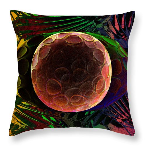 Cell Throw Pillow featuring the digital art Zygote #1 by Chas Hauxby