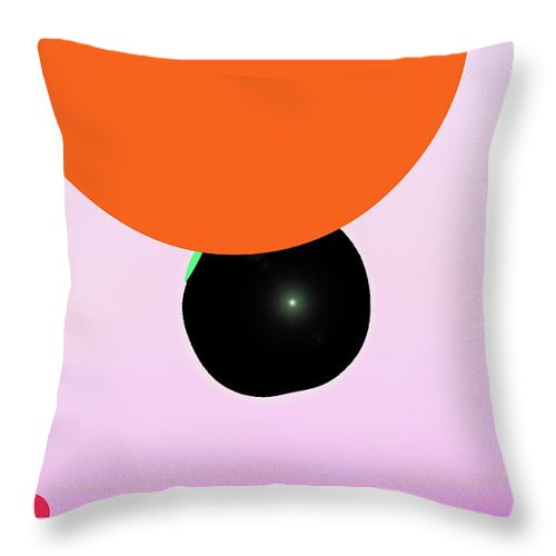 Walter Paul Bebirian: The Bebirian Art Collection Throw Pillow featuring the digital art 1-9-2009cdefghijklmnopqrtuv by Walter Paul Bebirian