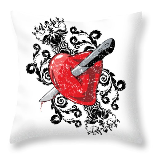 Halloween Throw Pillow featuring the digital art Anti Valentines Day by Passion Loft