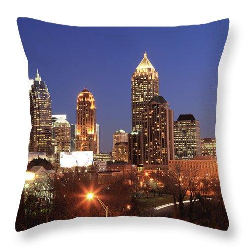 Atlanta Throw Pillow featuring the photograph Atlanta, Georgia by Jumper