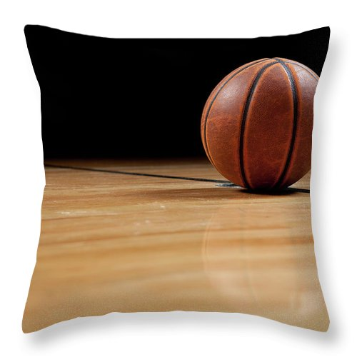 Ball Throw Pillow featuring the photograph Basketball by Garymilner