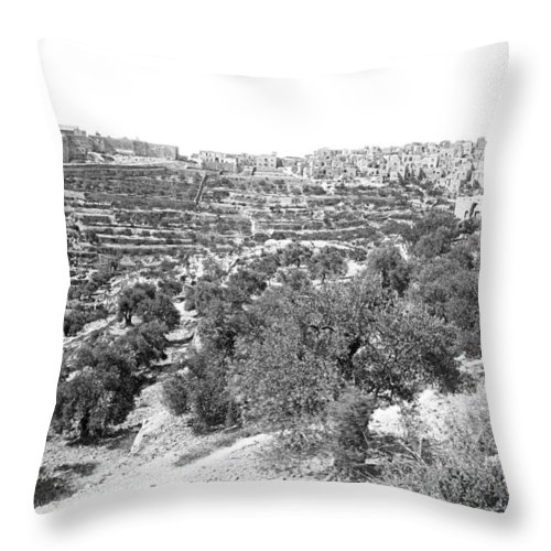 Abbe Fromet Throw Pillow featuring the photograph Bethlehem 1886 by Munir Alawi