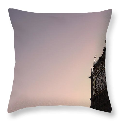 Clock Tower Throw Pillow featuring the photograph Big Ben Clock Tower by Sherif A. Wagih (s.wagih@hotmail.com)