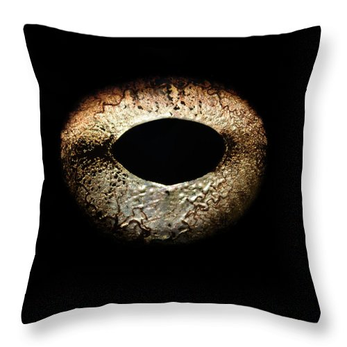 Eyesight Throw Pillow featuring the photograph Bullfrogs Eye, Close-up by Jonathan Knowles