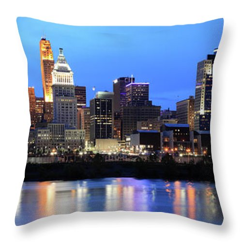 Cincinnati Skyline Ohio Throw Pillow For Sale By Veni