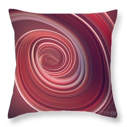 Curve Throw Pillow featuring the photograph Colored Twisted Shape. Computer by Andrey a