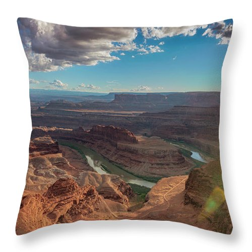 Panorama Throw Pillow featuring the photograph Dead Horse Point by Marybeth Kiczenski