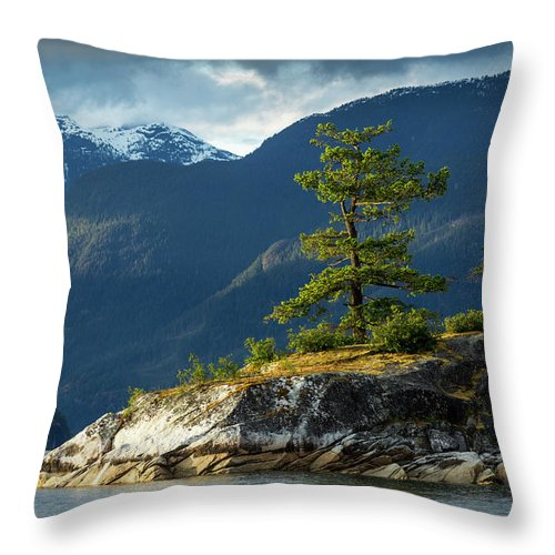 Scenics Throw Pillow featuring the photograph Desolation Sound, Bc, Canada by Paul Souders