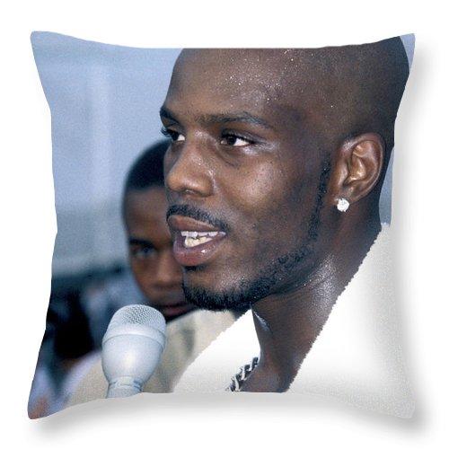 Dmx Throw Pillow featuring the photograph DMX by Concert Photos